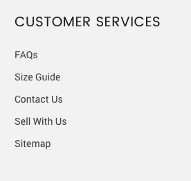 footer customer services
