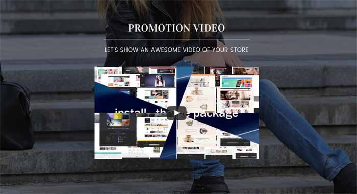 Promotion video block