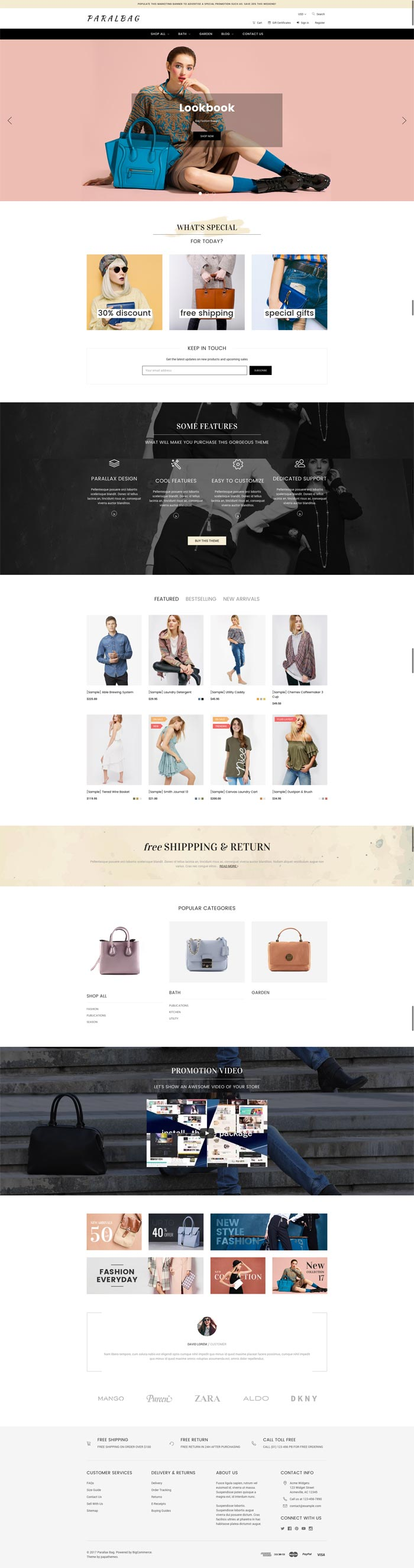 Customization bigcommerce theme sarahmarket user guide.
