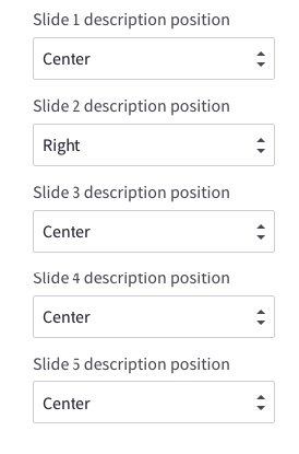 Edit position of each carousel slide